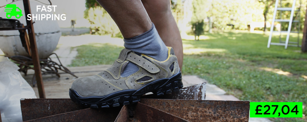 Lightweight safety sandals