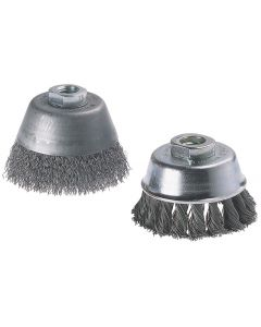 Wolfcraft corrugated cup metal brush 75 mm, shank 6 mm. 2108000