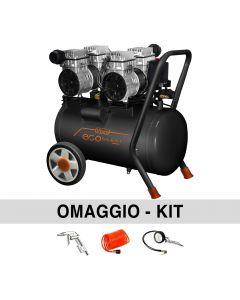 Vinco KWU7502-50L oilless Super silenced compressor