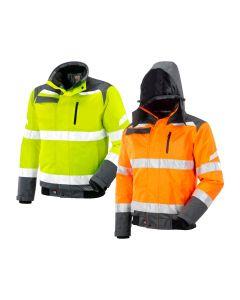 Neri Nomentana High visibility waterproof jacket