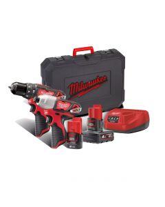 Milwaukee M12 BPP2B-421C Impact drill set and Cordless 12V Impact Screwdriver