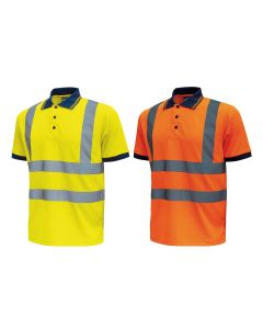 High visibility U-Power Neon short sleeve polo shirt