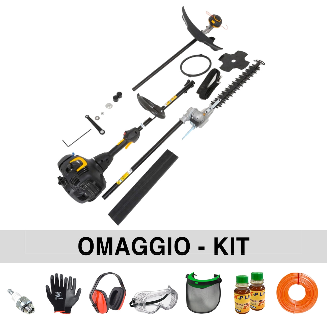 McCulloch B26PS ToolKit Petrol Brush Cutter