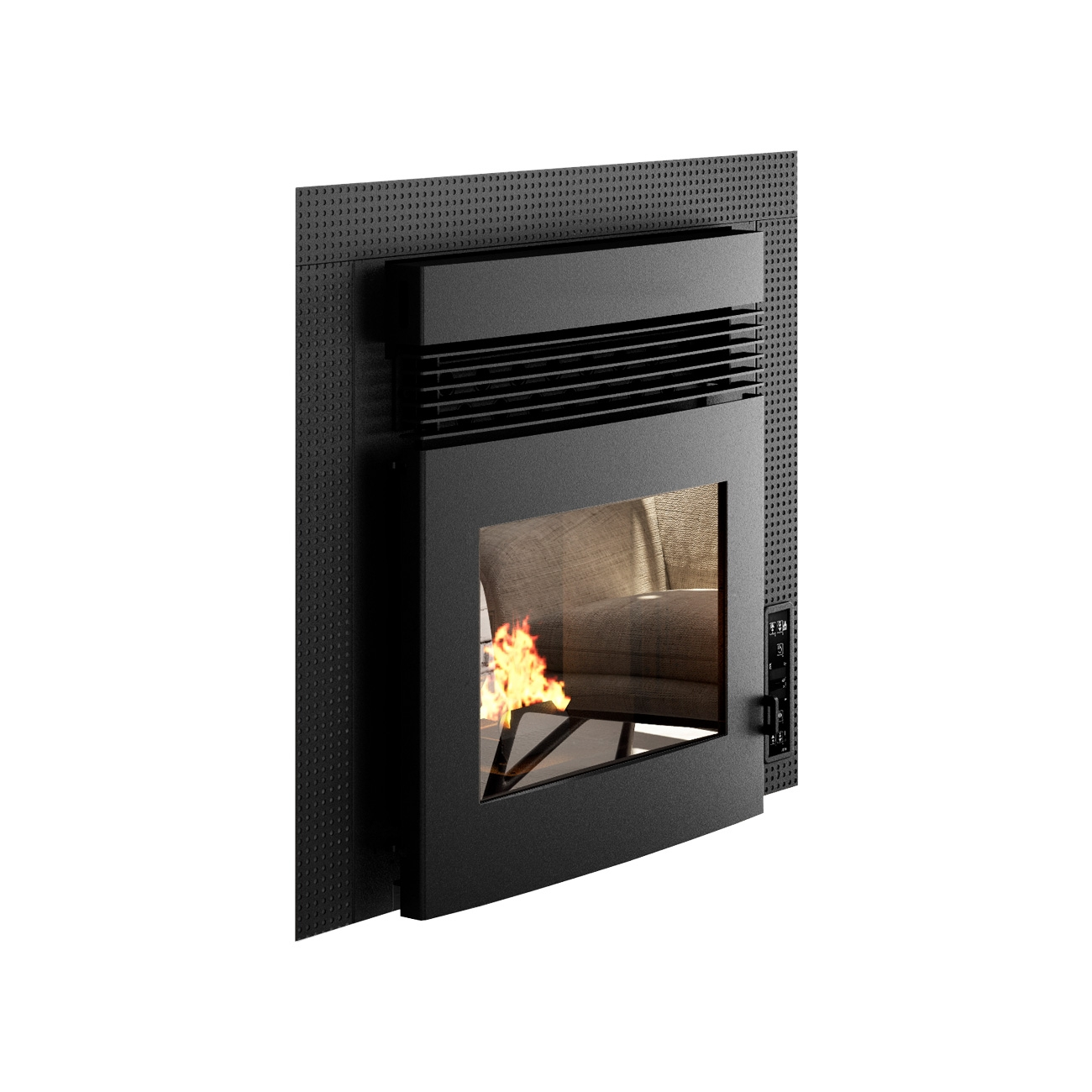Punto Fuoco Alessio CNLZ 11 kW Ducted pellet fireplace insert