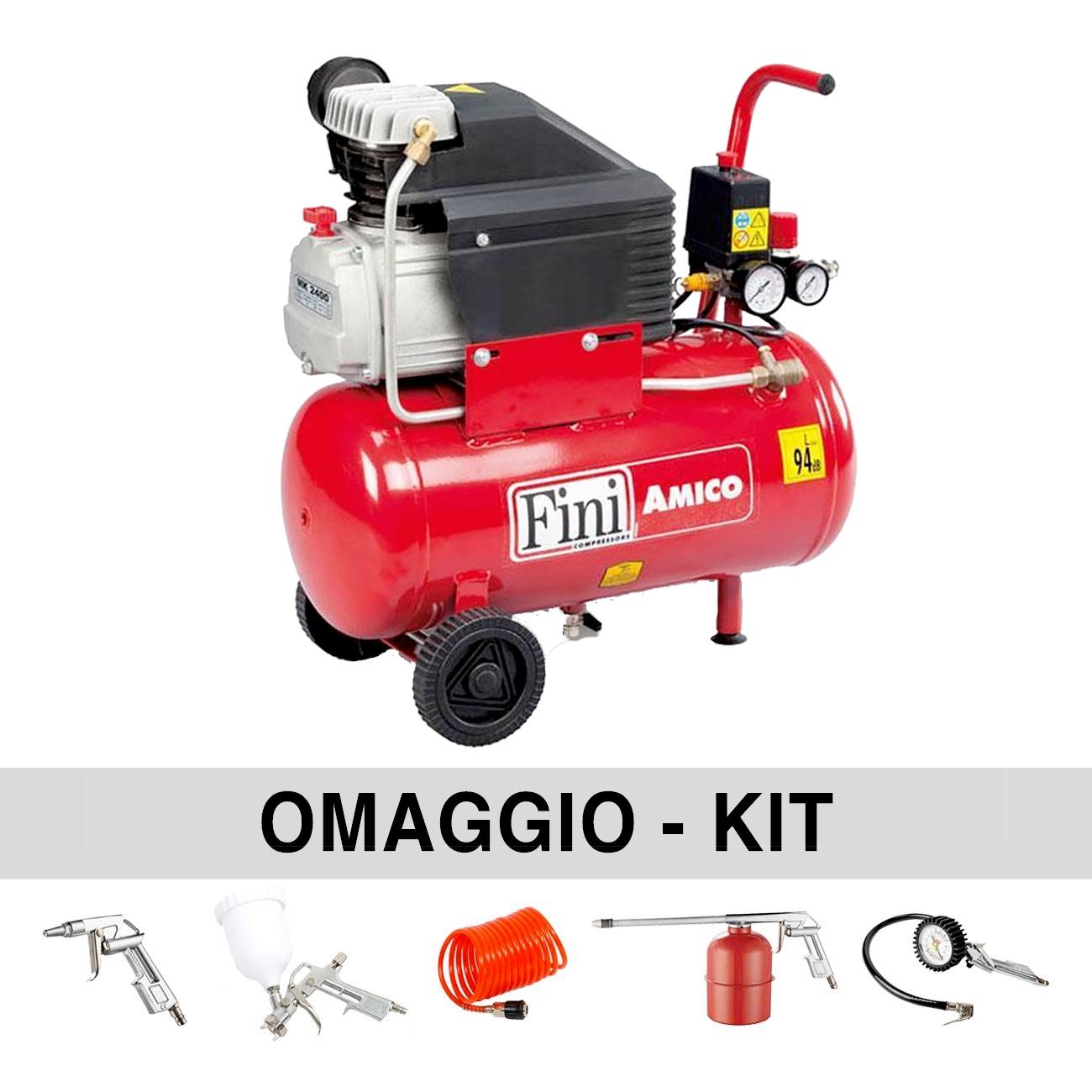 FINI AMICO 25/2400 24L Air Compressor 240V