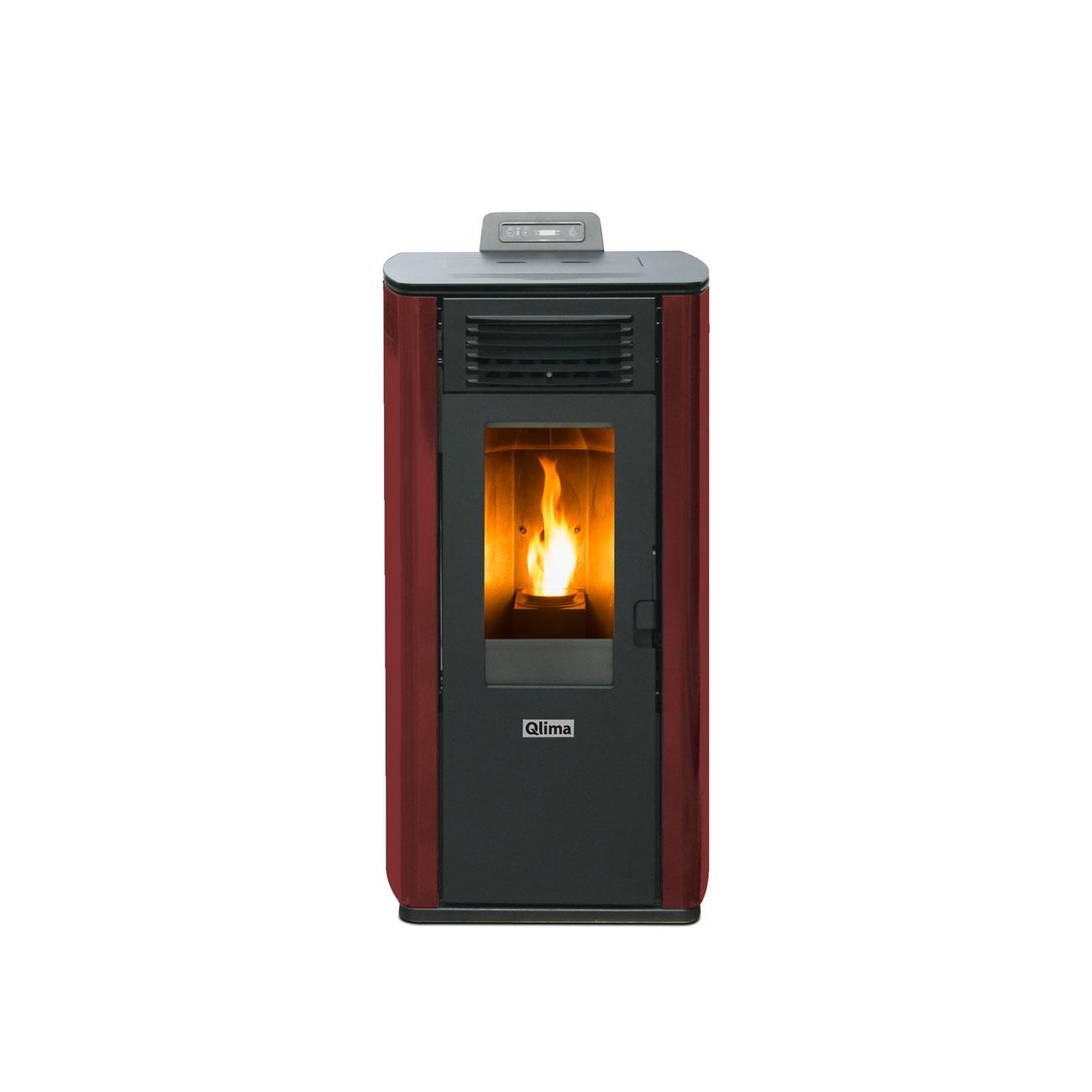 Qlima Fiorina 74 S-LINE Red Slim Pellet stove  8.24 kW - Reconditionel product 2