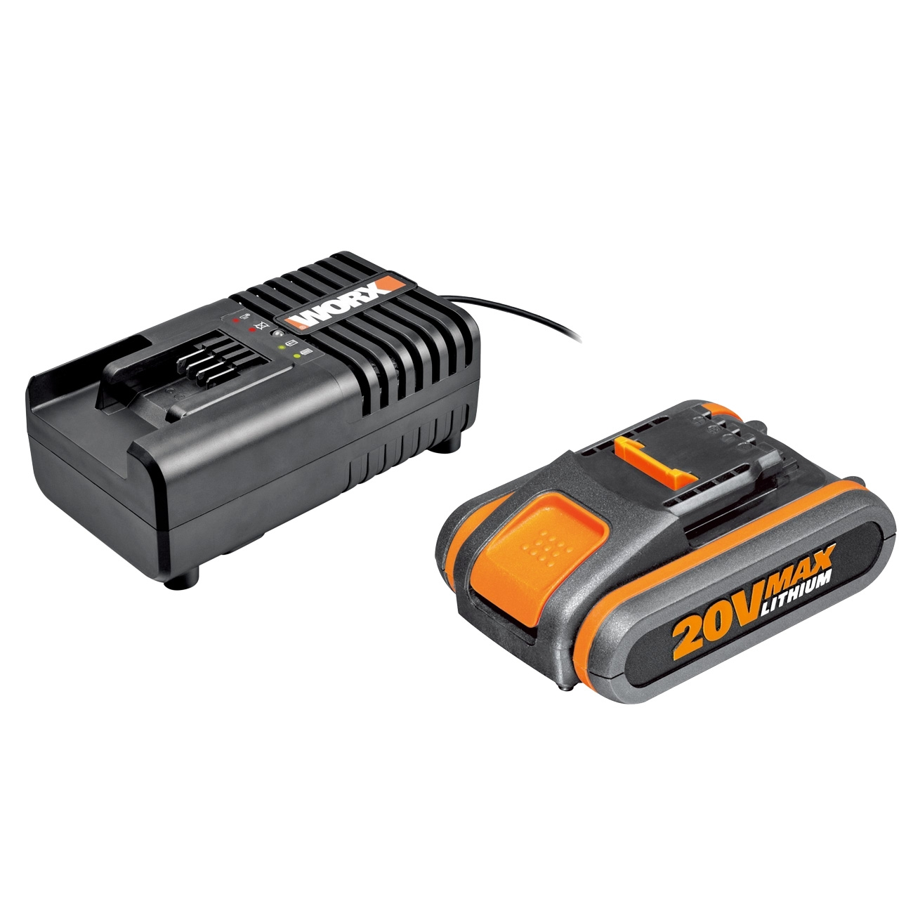 Worx WA3601 20V battery and charger set