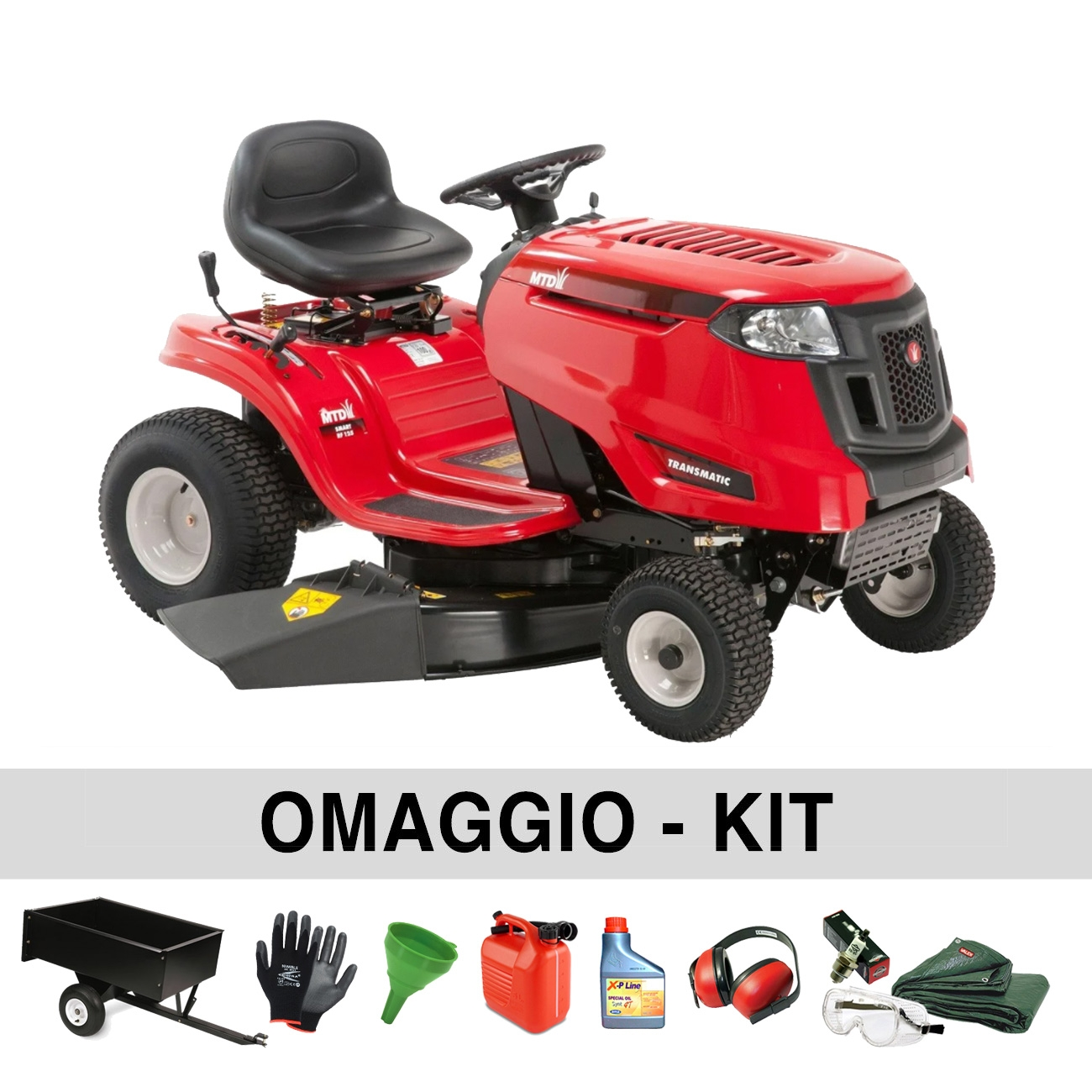 MTD Smart RF 125 Riding lawn tractor with Transmatic transmission