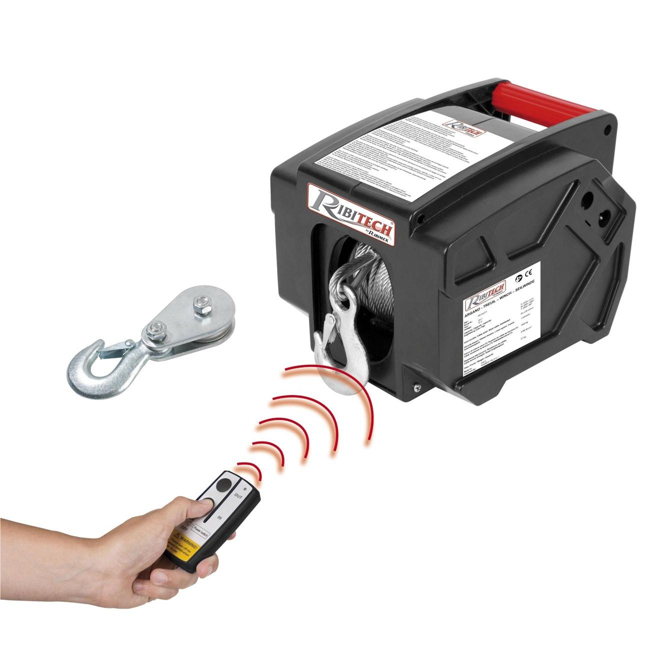 Ribimex PE12V / T Remote Controlled Electric Winch