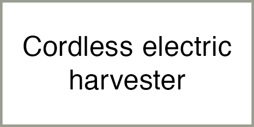 Cordless electric harvester