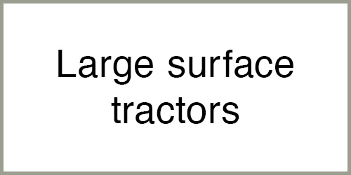 Large surface tractors