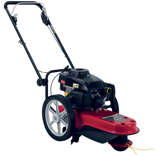 Brush cutter with wheels