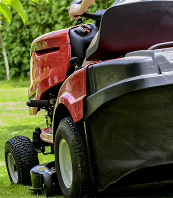 Rear discharge lawn mower