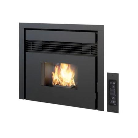Insert for pellet fireplace