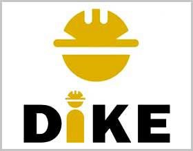 Dike high-top shoes