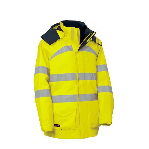 High visibility raincoats